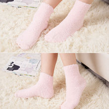 HIRIGIN Newest 2017 Hot Home Women Girls Soft Bed Floor Socks Fluffy Warm Winter Pure Color Hosiery
