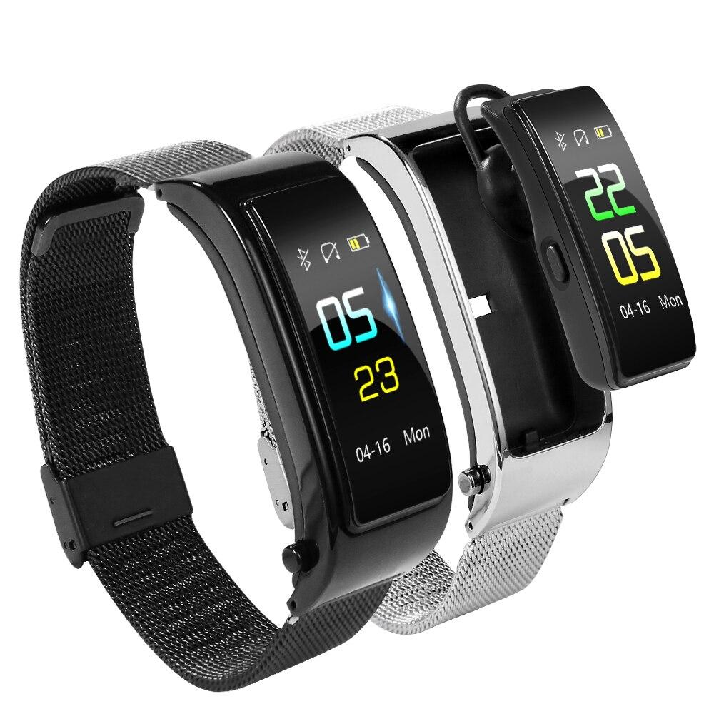 Bluetooth Y5 Headset Conversa Inteligente banda Cor Pulseira monitor de freqüência cardíaca Esportes Relógio Passometer Inteligente Rastreador De Fitness Pulseira