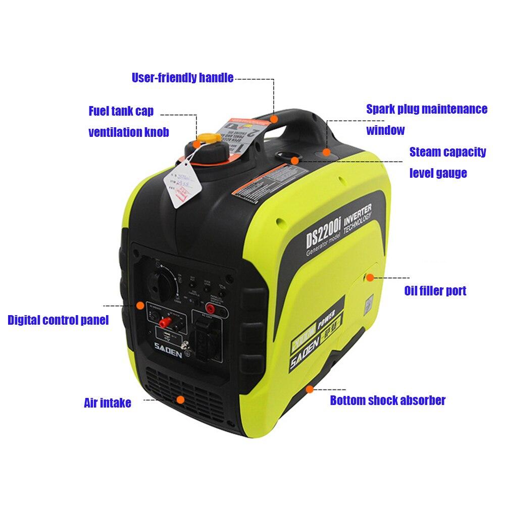 1KW цифровой DS1200i Ультра тихий бензиновый генератор 220 В портативный небольшой Автомобильный Цифровой инвертор бензиновый генератор