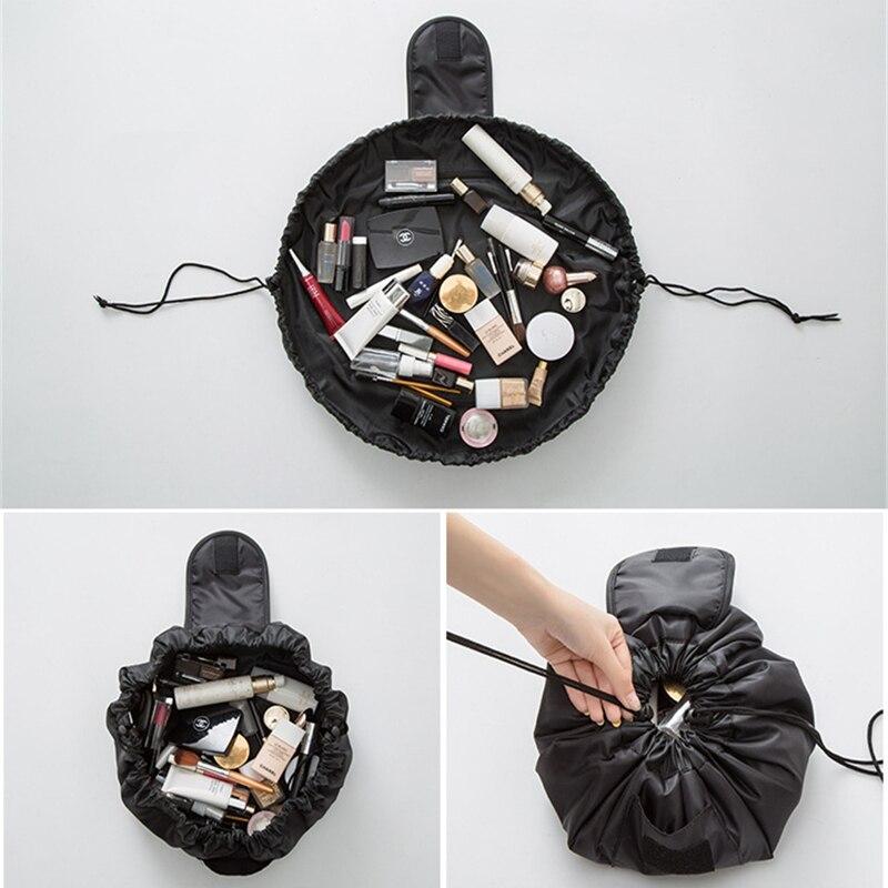 Convenient Travel Makeup Brush Bag Large Capacity Makeup Pouch Organizer Cosmetic Storage Case