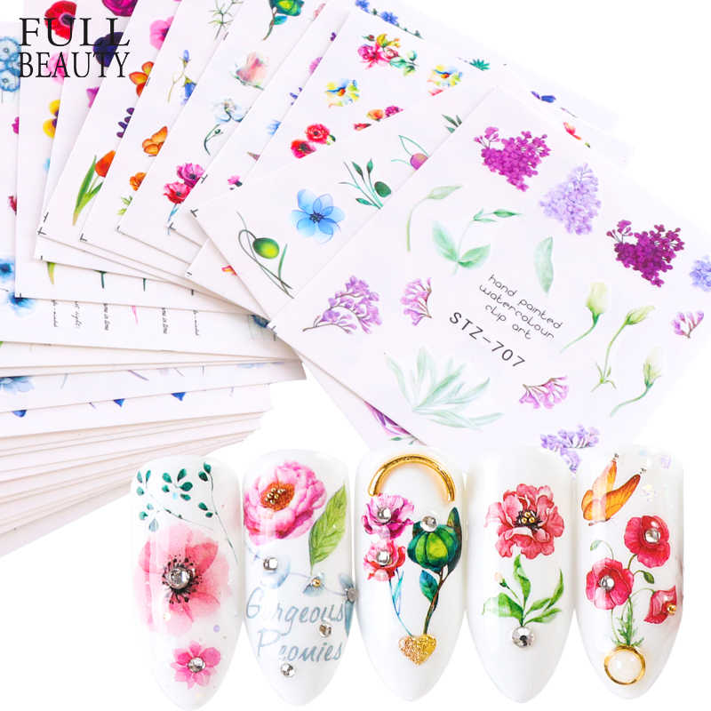 1pcs Flower Elegant Designs Nail Water Sticker Decal Dried Floral Vine Cactus Wraps Slider Nail Art Manicure Decor CHSTZ707-730
