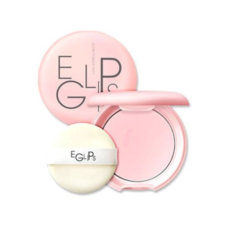 EGLIPS Glow Powder Pact 8g Loose Powder Makeup Foundation Primer Finishing Powder Waterproof Cosmetic For Face