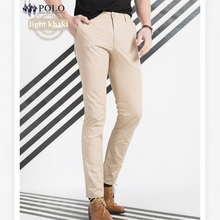 Royal Queen's Polo Team barnd 2017 Casual Men's Long Pants Cotton business Trousers Midwaist male Straight Solid slim fit pant
