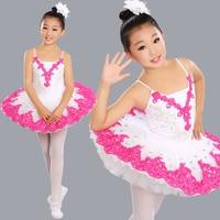 White Adult Professional Ballet Tutu Child Pancake Tutu Ballet Clothes For Kids Woman Swan Lake Ballet