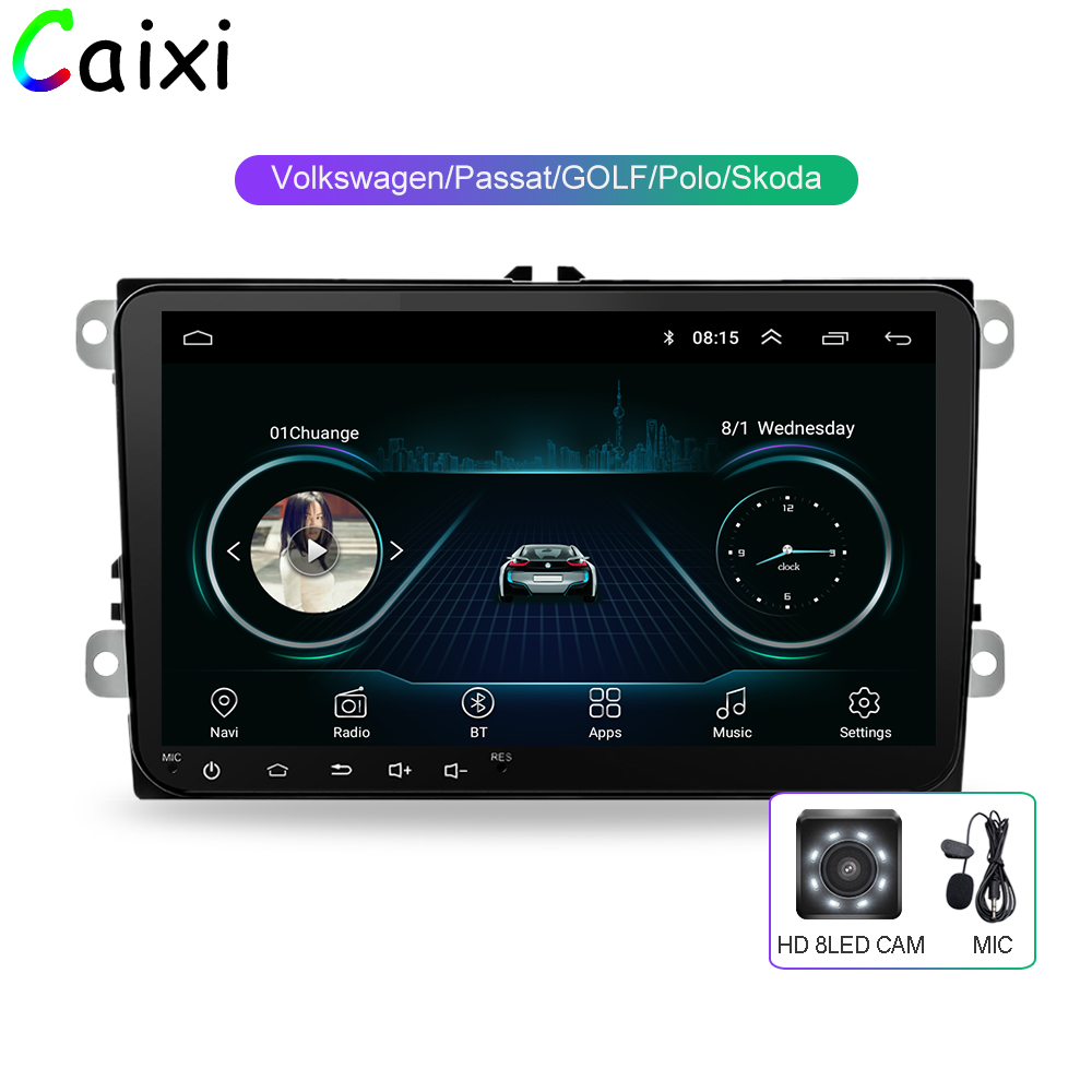 CAIXI 9 ''autoradio GPS Navigation Android8.1 multime Player pour VW Volkswagen SKODA GOLF5 Golf6 POLO PASSAT B5 B6 JETTA TIGUAN