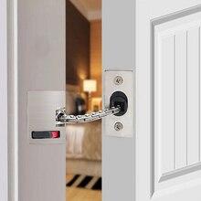 1 шт. дверная цепь для безопасности из нержавеющей стали сверхмощная охрана ворот защелка дверной безопасный замок_ WK
