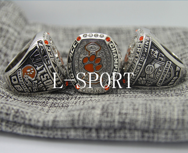 football item ring clemson championship watson national rings for acc choose tigers