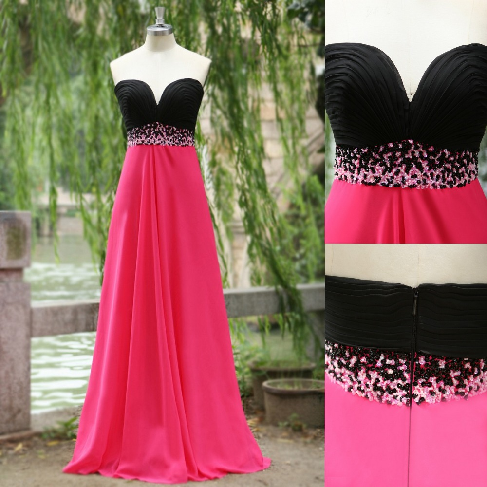 Popular Black and Pink Bridesmaids Dresses-Buy Cheap Black and ...