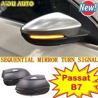 AIDUAUTO FOR VW Scirocco MK3 Passat B7 CC Dynamic Mirror Indicator Blinker Side LED Turn Signal Light Sequential EOS Beetle
