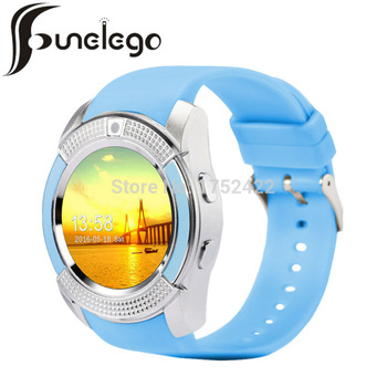 Funelego 1.22 Inch Touch Smart Watch With SIM Card Camera Clock Round Screen Waterproof Phone Watch Bluetooth For Apple Android