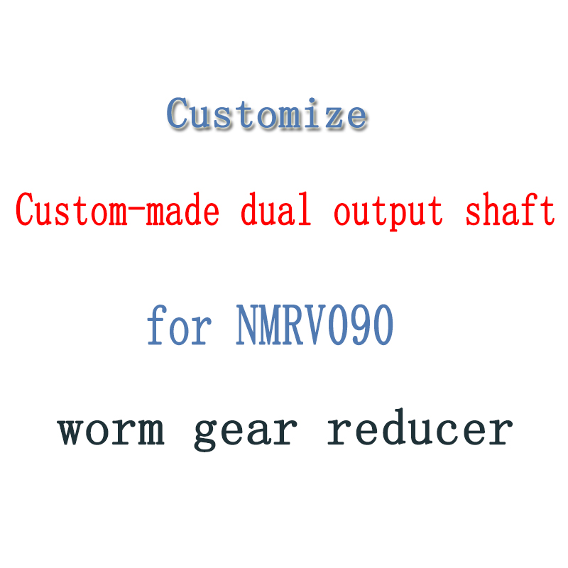 Customize Custom-made dual output shaft Diameter 35mm for NMRV090 worm gear reducerCustomize Custom-made dual output shaft Diameter 35mm for NMRV090 worm gear reducer