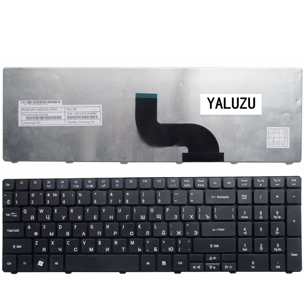 YALUZU NEW Russian Laptop Keyboard for Acer FOR Aspire 5810T 5738 5552 5738ZG 5750G 7750G 5740G Black RU Layout new laptop keyboard for acer aspire vn7 791 vn7 791g ru russian layout