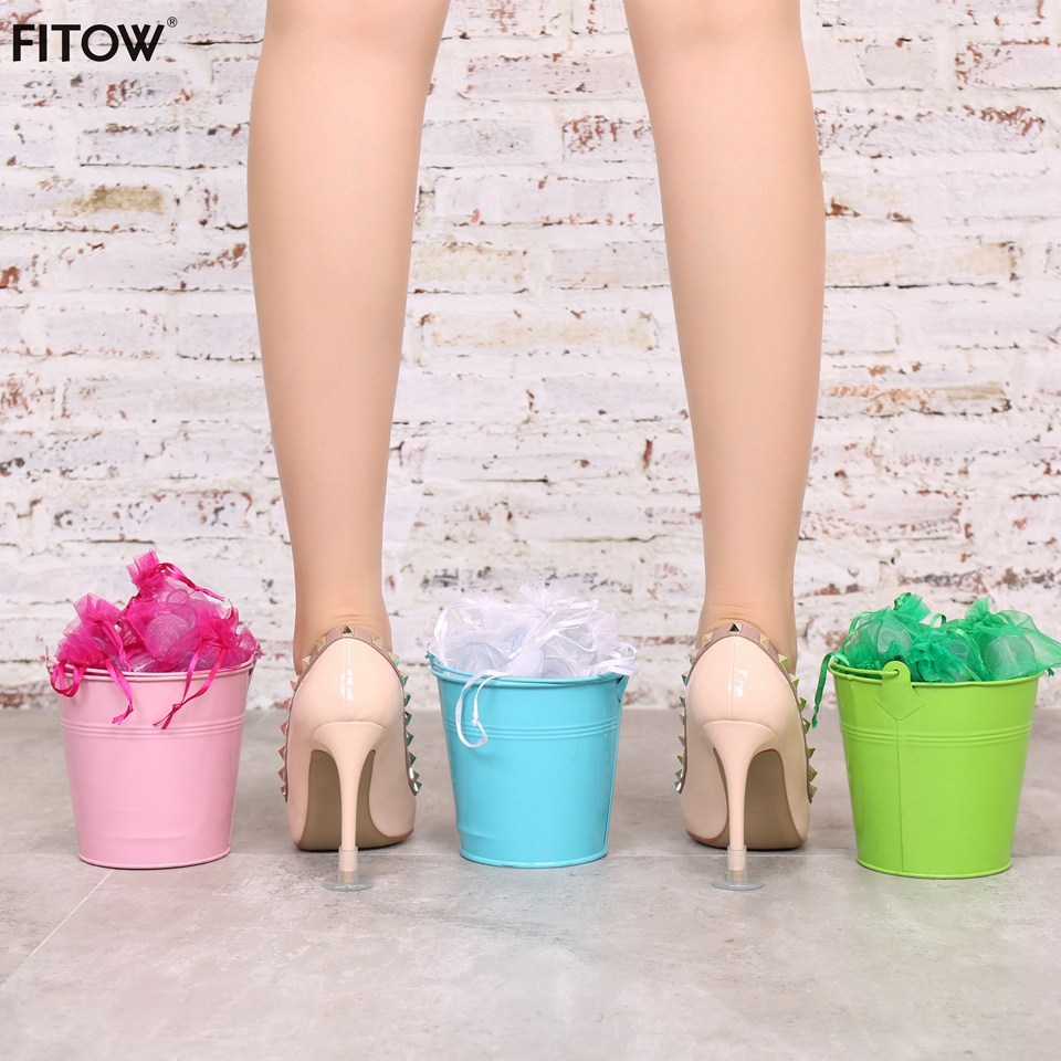 Image 5 - 50 Pairs/Lot 3 Color and 3 Size High Heeler Latin Stiletto Shoes Heel Covers Cap Heel Stoppers Antislip Heel Protectors-in Shoe Care Kit from Shoes