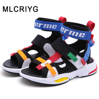 New 2019 Summer Kids Beach Sandals Boys Casual Sandals Baby Girls Sport Sandals Children Black Shoes Soft Fashion Brand Flats