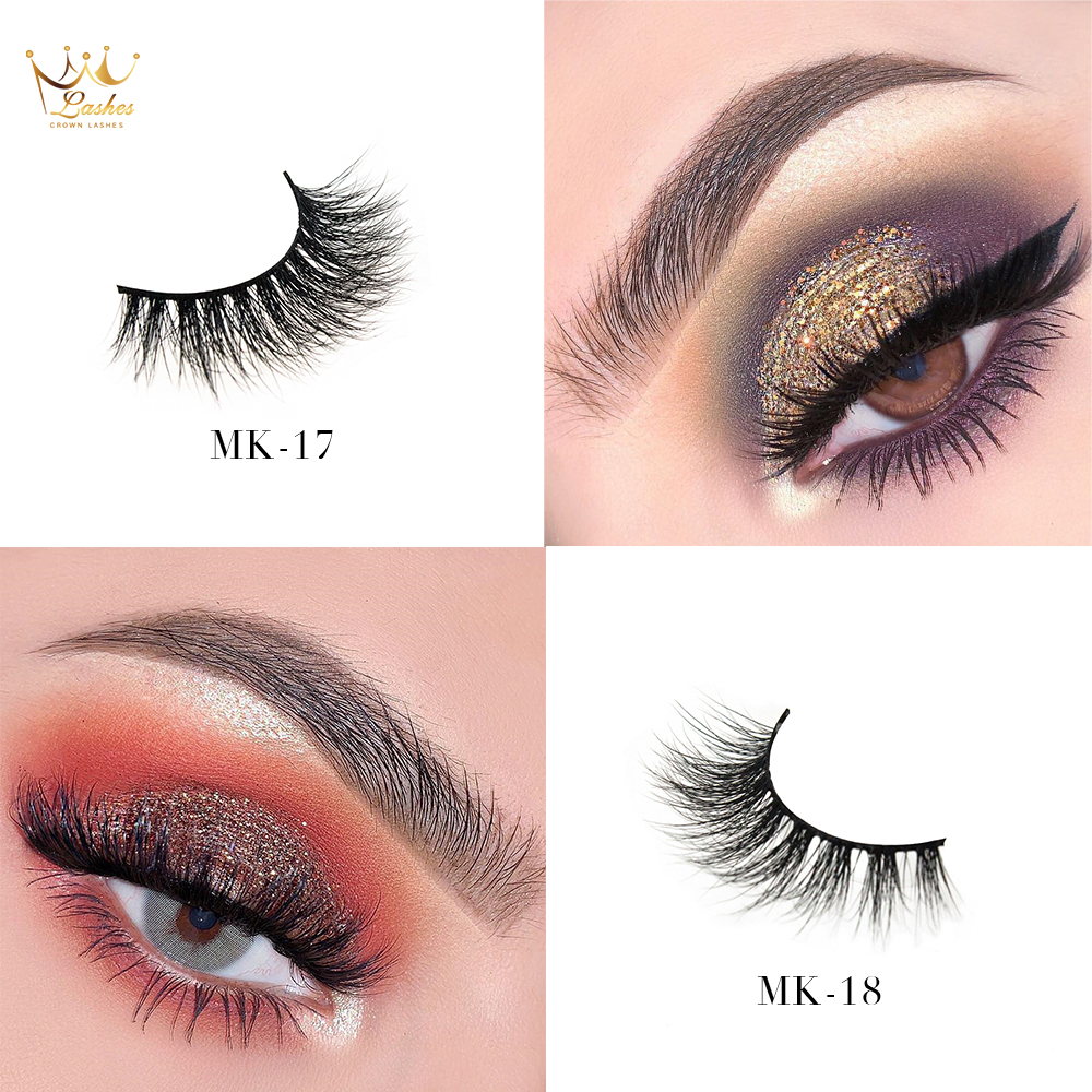 Beauty & Health Brilliant Crown Lashes Factory Vendor 100% Real Fur Soft Hair 3d Mink Eyelashes With Custom Packaging Good Companions For Children As Well As Adults Beauty Essentials