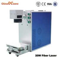 เลเซอร์ 20 วัตต์ไฟเบอร์โลหะแกะสลักพื้นที่การทำงานตัวเลือก 110*110/200*200 มิลลิเมตรสำหรับโลหะและพลาสติกเครื่องหมาย