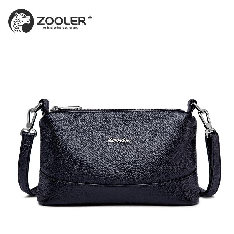 Mode Dames leer Koe portemonnee zwarte vrouw schoudertas zachte - Handtassen - Foto 4