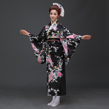 Japanese Kimono Traditional Womens Dress Female Yukata Lady Costume Party Cosplay 16
