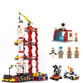 GUDI Spaceport espacio lanzadera centro de lanzamiento bloques de construcción conjuntos educativos juguetes clásicos para regalo de niños