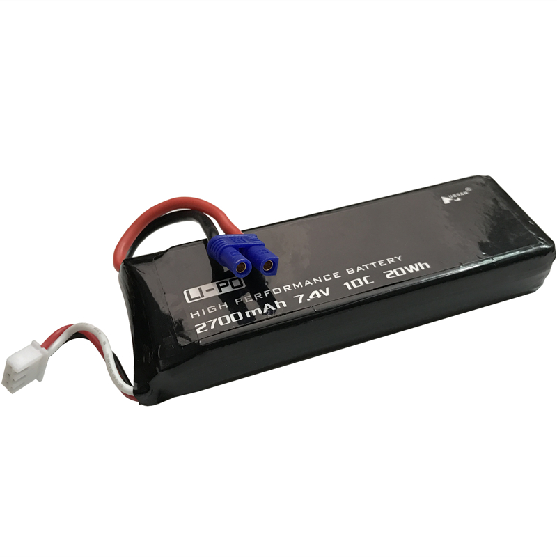 Original Hubsan H501C H501S X4 7.4V 2700mAh lipo battery 10C 20WH battery For RC Quadcopter Drone Parts 4pcs 7 4v 2700mah 10c hubsan h501s lipo battery batteies with cable for charger hubsan h501c rc quadcopter airplane drone spar