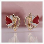 PATAYA New Women Wedding Party Jewelry 585 Rose Gold Micro-wax Inlay Natural Zircon Blooming Rose  Flowers Long Stud Earrings