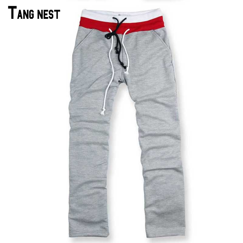 TANGNEST Men Pants Casual 2018 New Fashion Mens Straight Pants Full Length Spring&Summer Thin Trousers Solid For Man B438