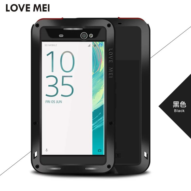 imágenes para LOVEMEI para Sony Xperia Cubierta de la Caja Ultra F3211 XA Extreme Dropproof Metal de Aluminio Caso XA Ultra Dual F3212 Contraportada
