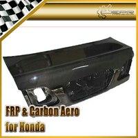 Car styling For Honda EK Civic 4Dr 98 00 Carbon Fiber OEM Trunk Tailgate Glossy Fibre Boot Racing Auto Body Kit Accessories Trim