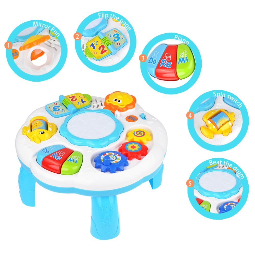 Baby Music Toys Learning Multifunctional Game Table Electronic Drum Musical Instrument Baby Hand Drums Educational Toys