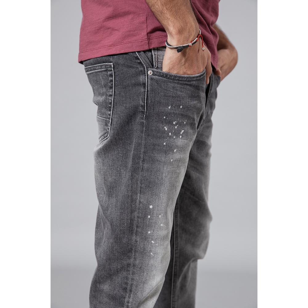 Image 2 - Мужские джинсы в стиле «Ретро» SIMWOOD, легкие облегающие брюки в  стиле «Хип хоп», джинсовые брюки длиной до щиколотки, 2019,  демисезонная уличная одежда, 190108Джинсы