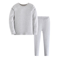 Kids Thermal Underwear Boys Kids Winter Warm Underwear Set Comfortable Cotton Thermal Long Johns Suits Solid