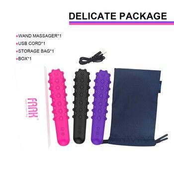 FAAK 7 Speed Point Bulge Dildo Vibrators New G-spot Massager USB Charge Hot Selling Sex Toys Women Vibrator 6