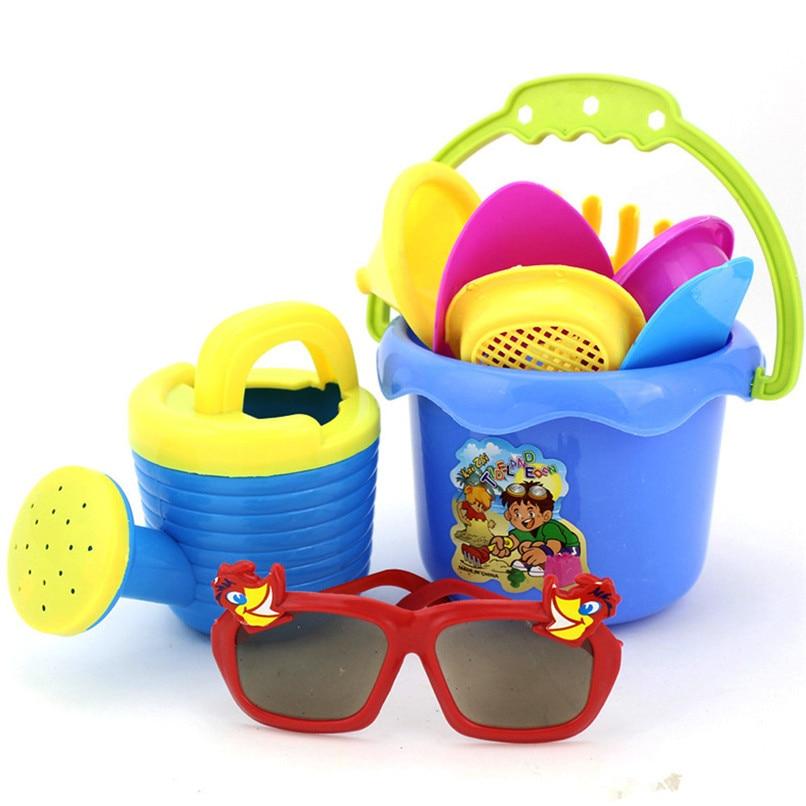 Random Color 9Pcs Kids Sand Beach Toys Castle Bucket Spade Shovel Rake Water Tools Set For Kids Toys Good Gift To Kids