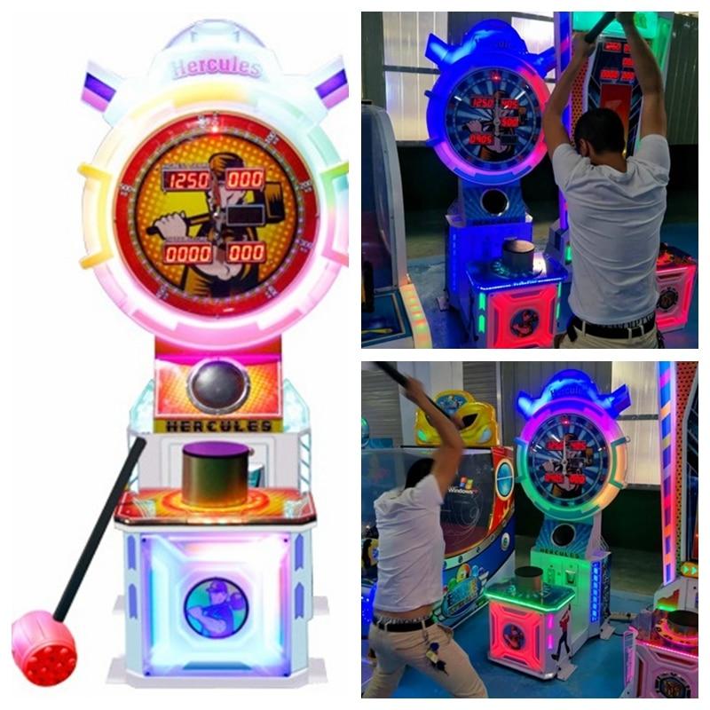 2018 NEW Design Amusement Equipment Hercules Simulator Hammer Hit Ticket Redemption Coin Operated Arcade Games Machine