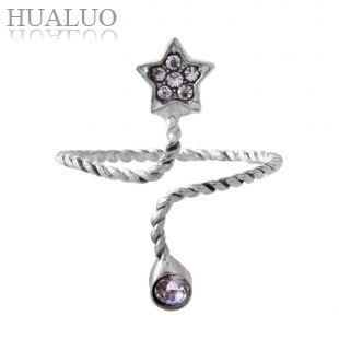 The Favourite GIft of Women Cute Lovely Korean Pliant Pentagram Nail Joint Ring R881 R882