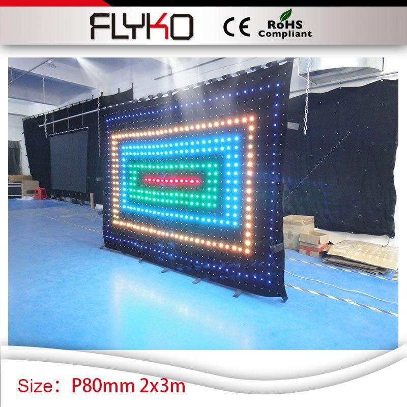P8cm Гибкие светодиодные занавес 2 м x 3 м LED Редактировать эффекты видео секс полные С ...