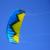 4 M² Quad Cometa Acrobática de Playa Al Aire Libre Poder Vuelo de la Cometa Line Mango Kiteboarding Cometa de Tracción