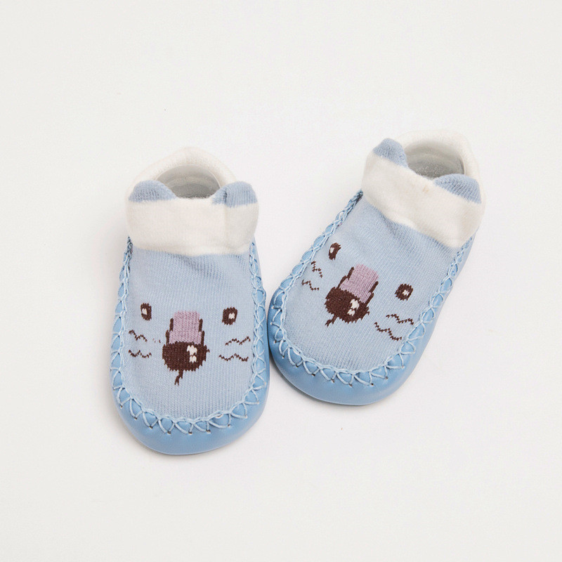 Lawadka Baby Socks Anti Slip Newborn Toddler Leather Bottom Socks for Girls Cotton Autumn Winter Baby Floor Socks