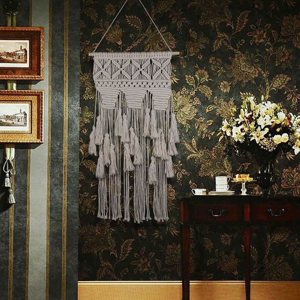 Indien fait à la main macramé suspendus décorations bohème travail manuel mariage mur tapisserie salon chambre mur décoration