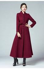 Winter Women's Overcoat 2016 Korean New Fashion Single Breasted Stand Colllar Long Wool Coat Plus Size Slim Female Outwear