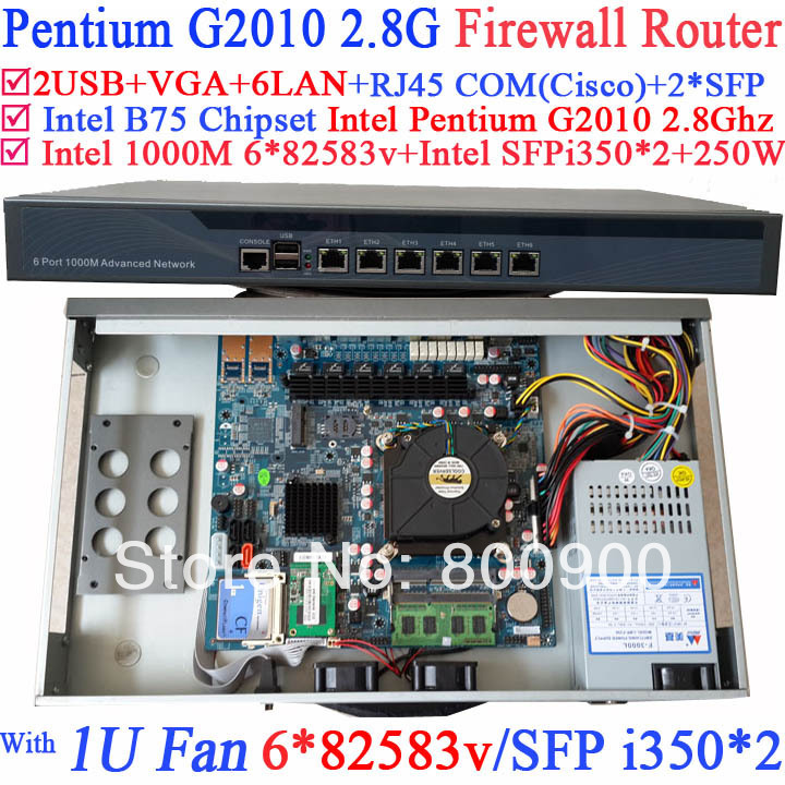 B75 Mikrotik industrial 1U Firewall Barebone Router with 8 ports Gigabit lan Intel Pentium G2010 2.8Ghz Mikrotik PFSense ROS network routers with 6 intel pci e 1000m 82574l gigabit lan intel dual core i3 3220 3240 3 3ghz with mikrotik ros 2g ram 32g ssd