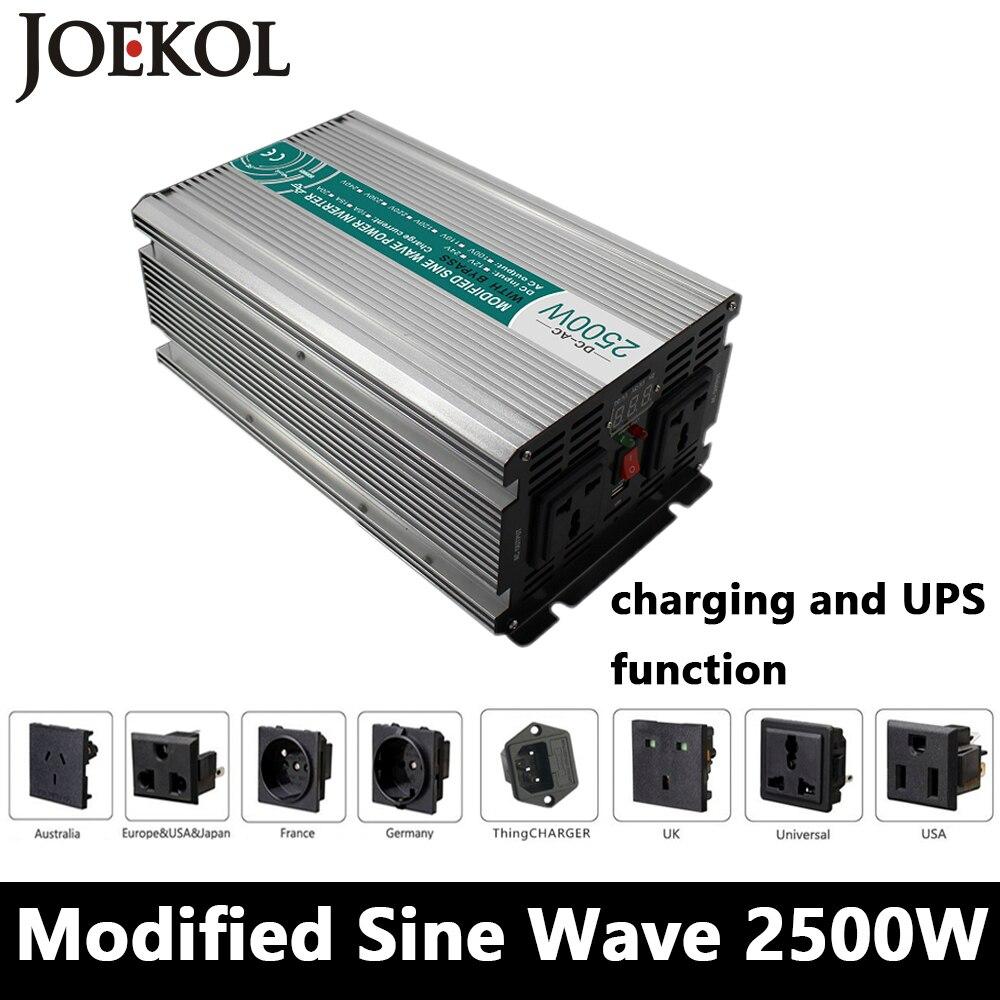 2500W Modified Sine Wave Inverter,DC 12V/24V/48V To AC110V/220V,off Grid Solar Power Inverter With Battery Charger And UPS