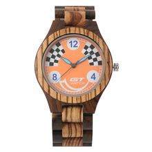 лучшая цена Men's Wooden Watch Classic Quartz Wooden Watches for Boy Premium Wooden Strap Wristwatch for Male