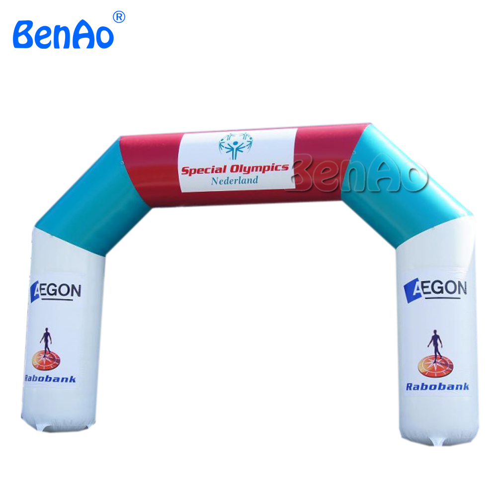 R088 Free shipping 20' start finish inflatable arch / archway /air gate,rainbow arch/inflatable advertising arch/inflatable arch r0163 free shipping cheap inflatable arch halloween inflatable arch inflatable welcome arch inflatable finish line arch for sale