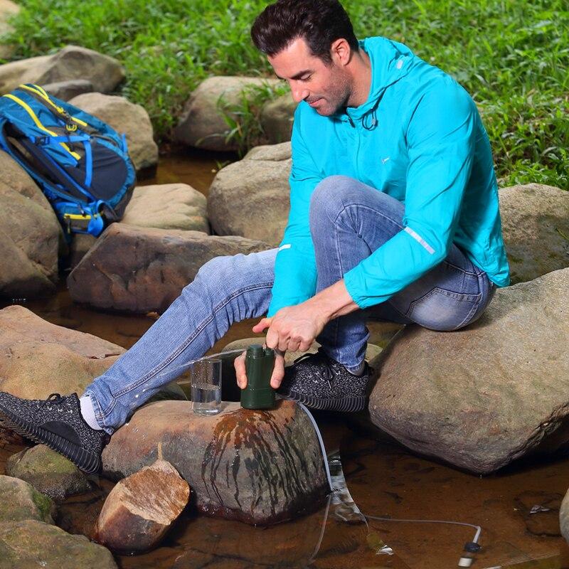 Filtre à eau Portable personnel/purificateur d'eau pour la survie, l'urgence, le Camping, la randonnée, les activités militaires filtre à eau en plein air