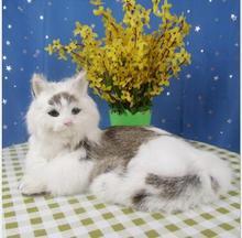 WYZHY  Simulation cat animal model Large chaise cat Desktop gift decoration   32CMx23CMx15CM стоимость