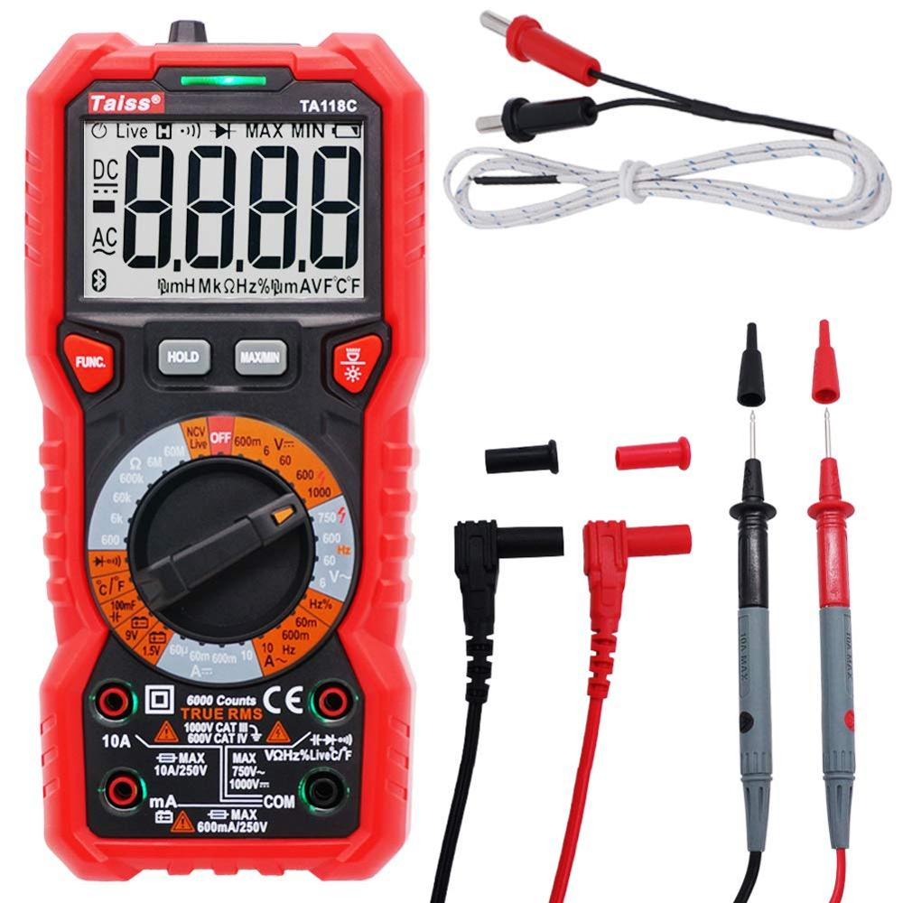Multi Function Advanced Digital Multimeter DC AC 6000 Counts Tester Measuring Temperature  Inductance and Capacitance|Multimeters| |  - title=