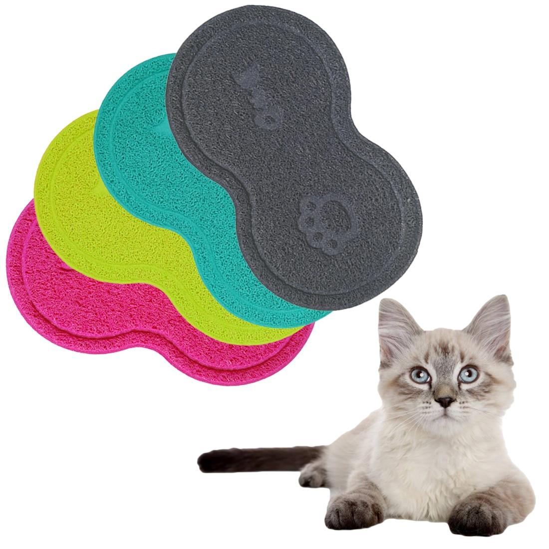 Протирать домашних животных собака щенок кошка кормления коврик мило ПВХ кровать блюдо чаша Еда подачи воды столовых