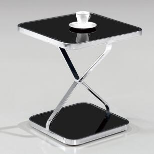 все цены на Stainless steel frame of toughened glass small tea table, square table. в интернете