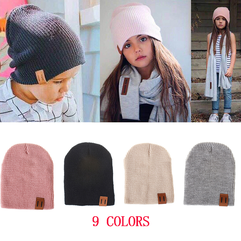 4c9ae53b3 ❤️ REAKIDS Baby Hat Kids Newborn Knitted Cap Crochet Solid Children Beanies  Boys Girls Hats ...